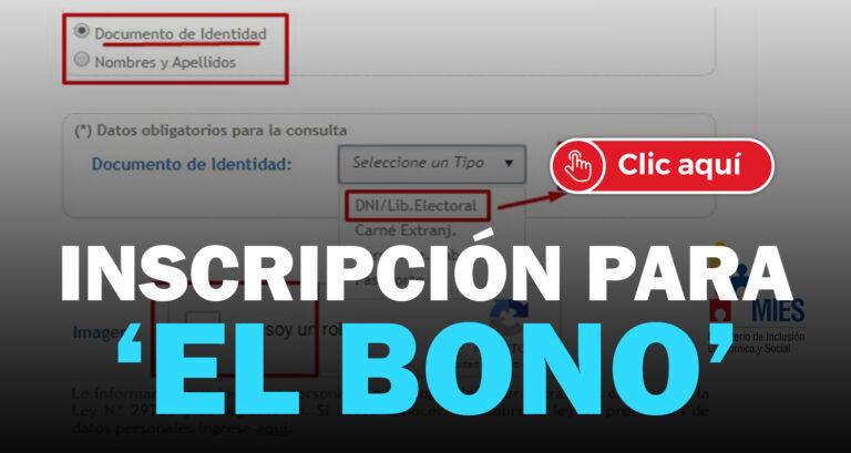 inscripción del bono
