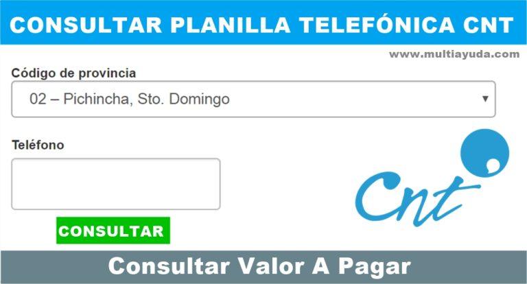 planilla telefónica CNT