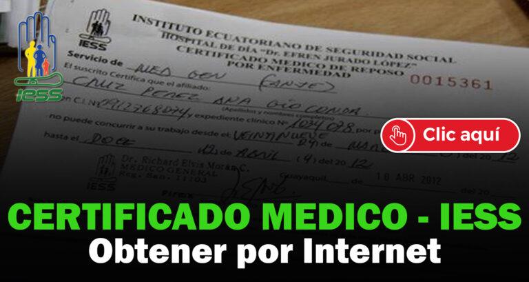 certificado médico del iess